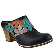 Spring Step LArtiste Open Back Leather Clogs -Helga - A355986