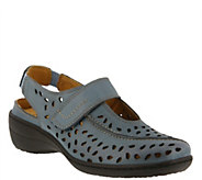 Spring Step Perforated Leather Sling-back Loafers - Fogo - A356686