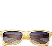 Bertha Olivia Buffalo-Horn Sunglasses w/ Polarized Lens, Hone - A361186