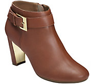 Aerosoles Leather Heel Rest Ankle Boots - ThirdAve - A361886