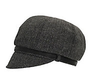 San Diego Hat Co. Womens Belted Newsboy Cap - A192187