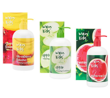 wen by chaz dean kids cleansing conditioner s 3 t set qvc