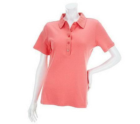 liz claiborne new york short sleeve polo shirt with