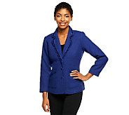 Joan Rivers Classic Boucle Jacket with Ruffle Trim - A239587