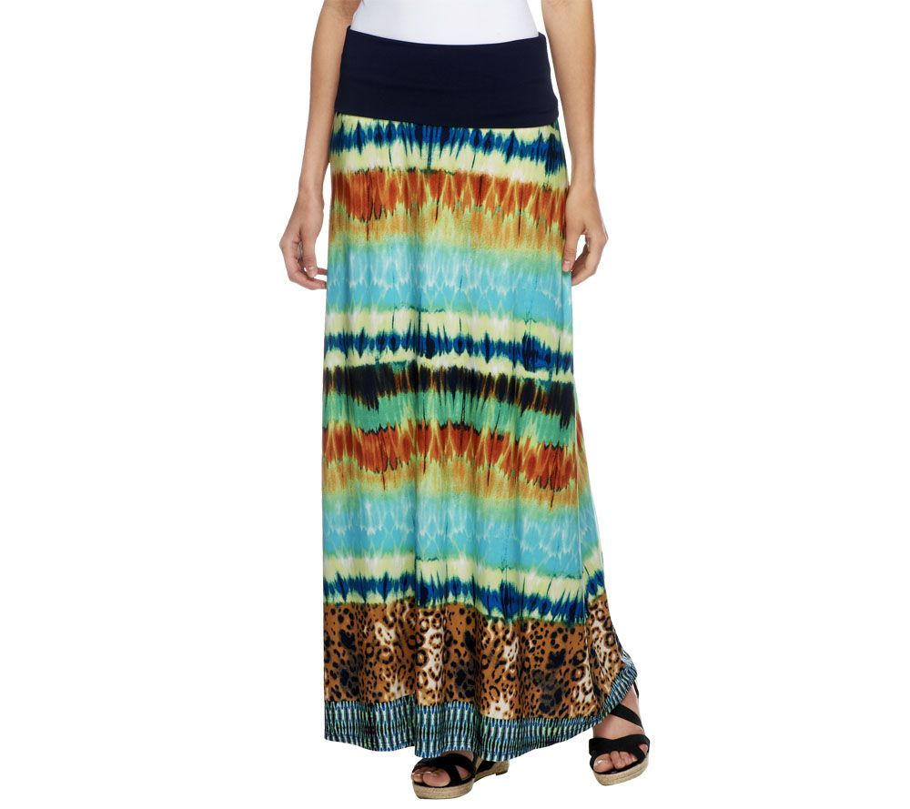 george simonton knit printed maxi skirt