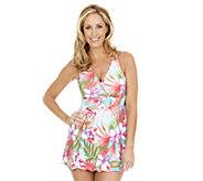Liz Claiborne New York Swim Dress with Adjustable Straps - A253387