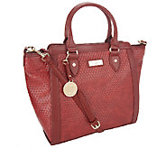 Liz Claiborne New York Framed Tote w/ Basketweave Detail - A256687
