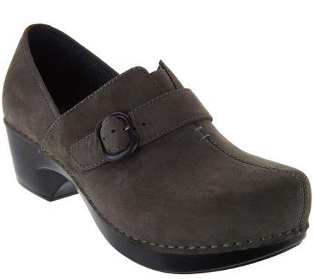dansko leather nubuck stain resistant slip on shoes