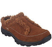 Ryka Faux Shearling Lined Suede Clogs - Torrey - A258687