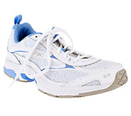 As Is Ryka Prelude Leather & Mesh Lace up Athletic Shoes - A258887