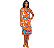Isaac Mizrahi Live! Tropical Floral Midi Dress - A264687