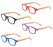 Tashon Faux Wood Readers Set of 4 Strength 0-2.5 - A265287