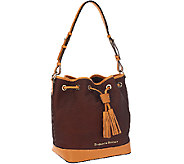 Dooney & Bourke Python Embossed Leather Drawstring Bag - A266587