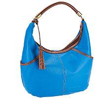Tignanello Everyday Casual Pebble Leather Hobo Handbag