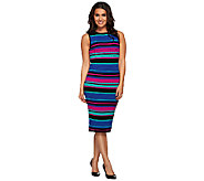 Whitney Port Stripe Pointelle Column Dress - A267187