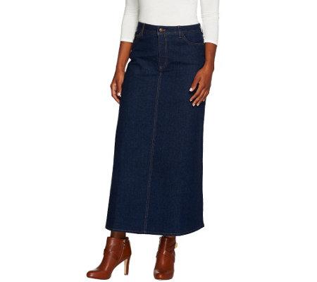 denim co stretch denim 5 pocket boot skirt a267887