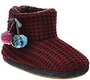 Cuddl Duds Fleece Lined Ankle Bootie Slippers with Foam Insole - A268587