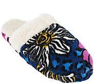 As Is Vera Bradley Signature Print Fleece Slippers - A269087