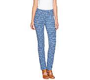 As Is Susan Graver Weekend Printed Cotton Spandex Ankle Length Leggings - A271487