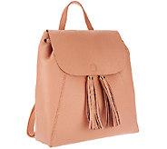 As Is Isaac Mizrahi Live! Bridgehampton Leather Backpack - A274687
