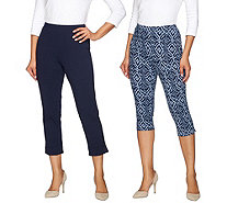 Women with Control Regular Printed Pedal Pushers and Crop Pants - A275987
