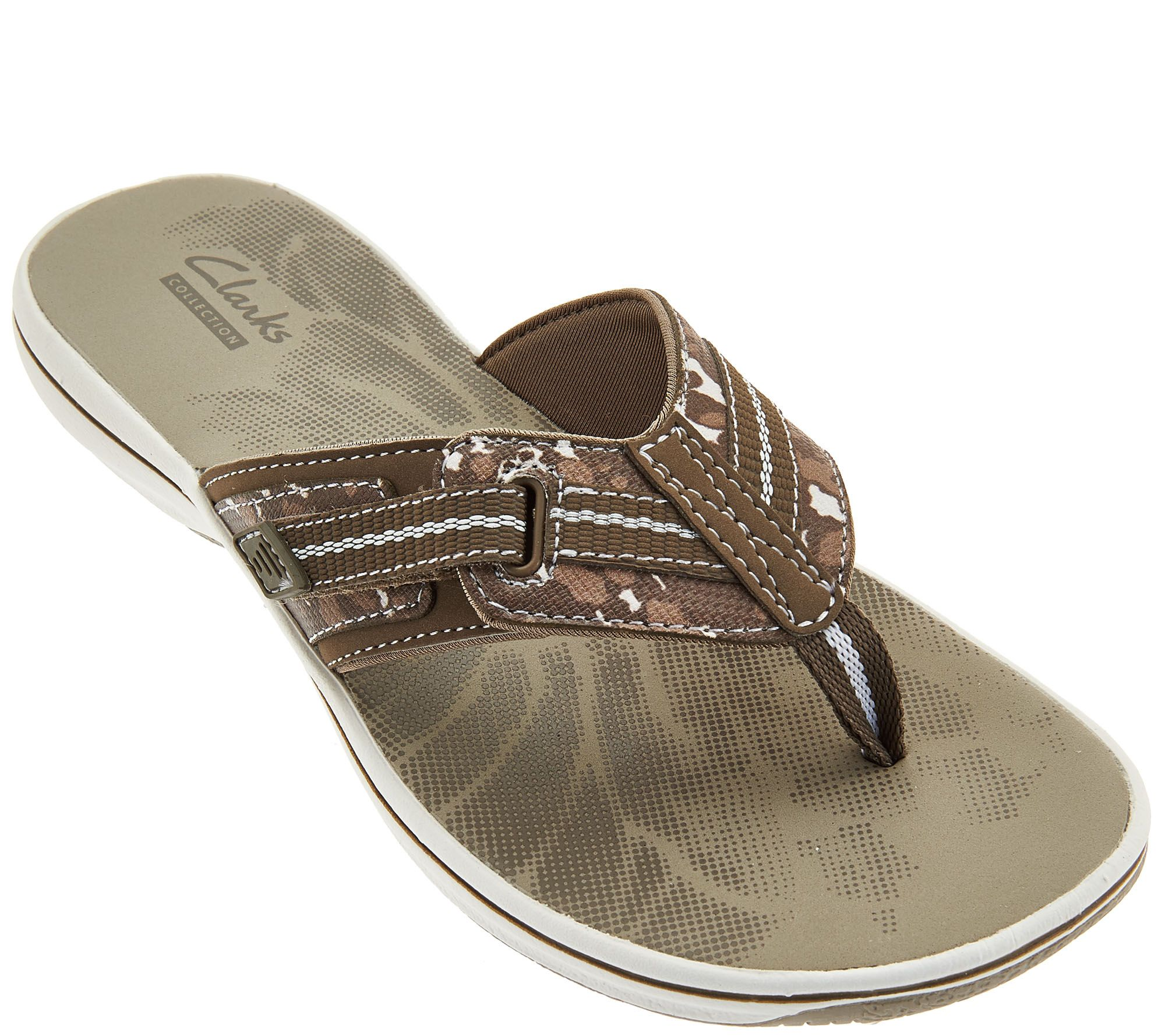 Clarks Sport Thong Sandals with Adj. Strap - Brinkley Jazz - Page 1 —  QVC.com
