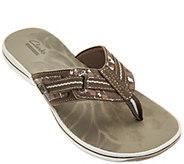Clarks Sport Thong Sandals with Adj. Strap - Brinkley Jazz - A276087