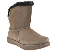 As Is Skechers Suede Printed Faux Fur Boots - Jadore - A277687