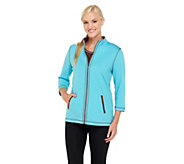 As Is Quacker Factory Contrast Jacket and T-shirt Set - A278487