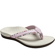 As Is Vionic Orthotic Leather & Canvas Sandals - Tide Floral - A285487