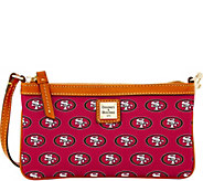 Dooney & Bourke NFL 49ers Large Slim Wristlet - A285787