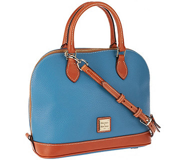 Dooney & Bourke Pebble Leather Zip Zip Satchel - A286387