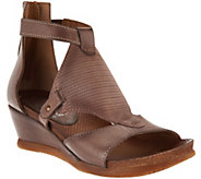 As Is Miz Mooz Leather Wedge Sandals - Maisie - A297987