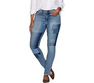 Martha Stewart Regular Patchwork 5-Pocket Ankle Jeans - A301087