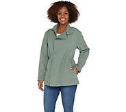 Martha Stewart Long Sleeve Zip Front Anorak Jacket - A307687