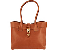 As Is Dooney & Bourke Florentine Leather Amelia Shoulder Bag - A309787