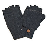 MUK LUKS Fairisle Flip Gloves for Men - A320487