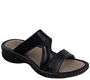 Eastland Leather Slide Sandals - Tawny - A340687