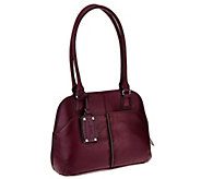 As Is Tignanello Leather Multi Compartment Satchel - A227988