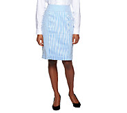 Star Jones Seersucker Pin Stripe Skirt - A252488