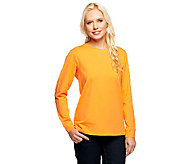 As Is Denim & Co. Essentials Long Sleeve Pull-over Knit Top - A257588