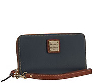 Dooney & Bourke Pebble Leather Zip Around Phone Wristlet - A257688