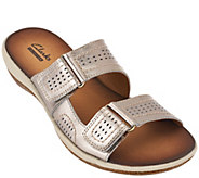 Clarks Double Strap Leather Sandals - Taline Pop - A262788