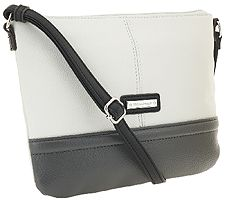 "As Is"" Tignanello Pebble Leather Two Tone Crossbody"