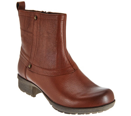 clarks leather ankle boots riddle muse a271788 qvc