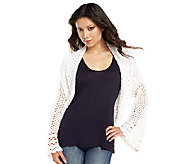 As Is Luxe Rachel Zoe Scoop Neck Crochet Sweater - A272088
