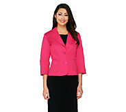 As Is Joan Rivers Simply Chic 3/4 Sleeve Blazer - A272788