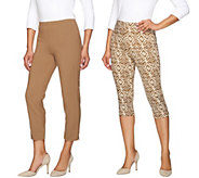 Women with Control Petite Printed Pedal Pushers and Crop Pants - A275988