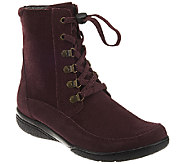 Clarks Suede or Leather Water Proof Lace-up Boots - Kearns Sirena - A276888