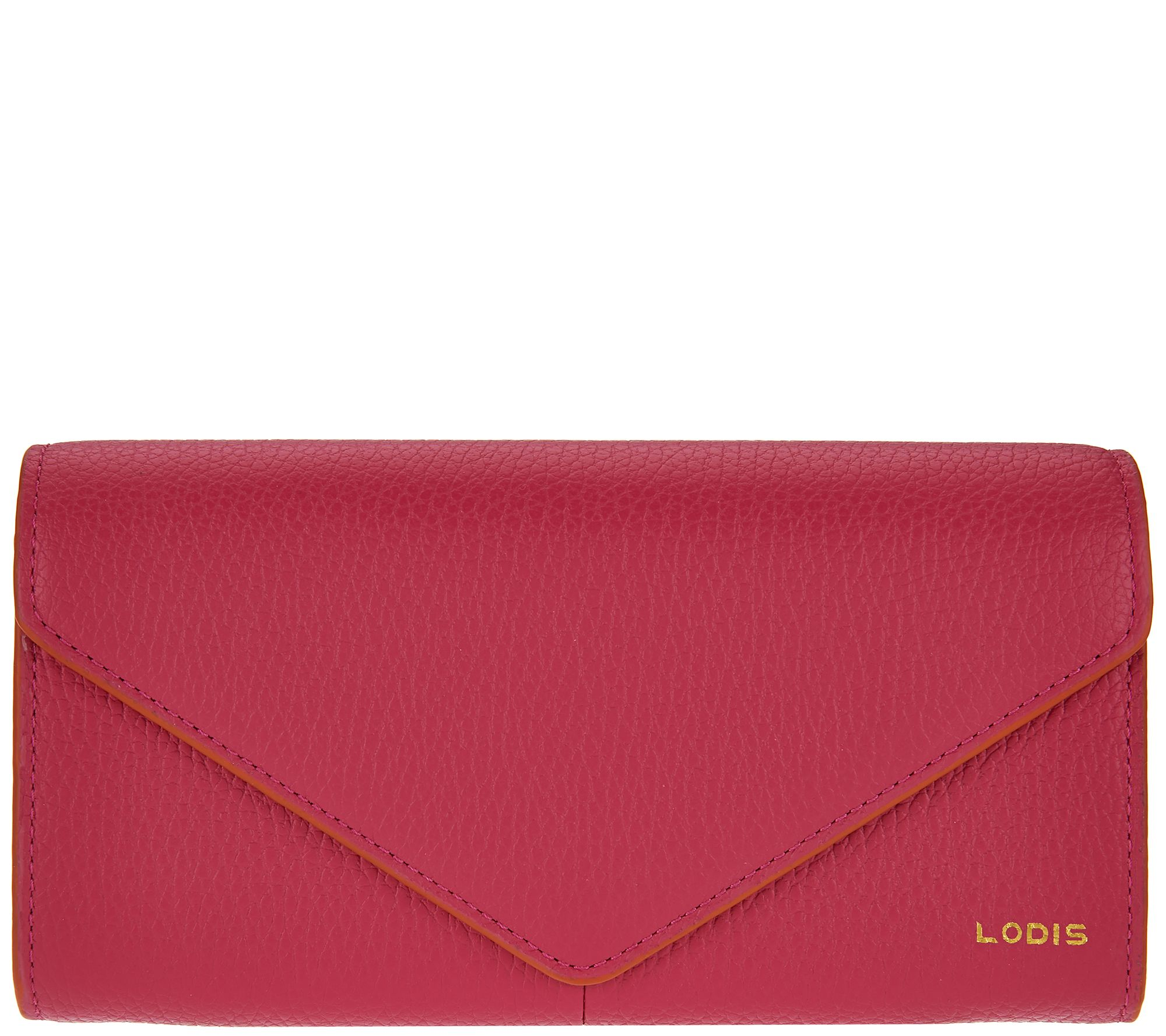 LODIS Italian Leather Organizer Wallet with RFID Protection - A277888 — QVC.com